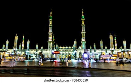 The Holy Masjid Madinah located in Saudi Arabia.