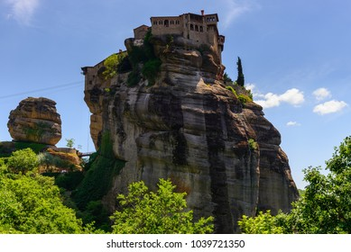 The Holy Monastery of Varlaam at the complex of Meteora monasteries in Greece
