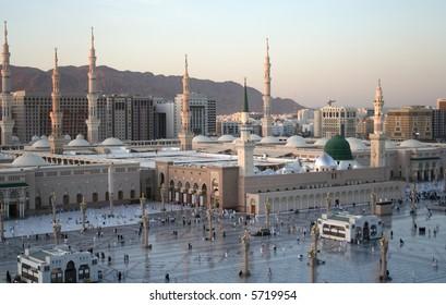 Holy mosque of Meddina in Saudi Arabia