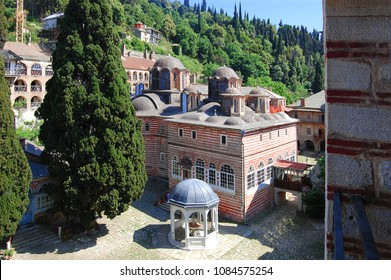The Holy Mountain Athos in Greek has been listed as a World Heritage Site. The Saint George the Zograf Monastery is Bulgarian Orthodox monastery.