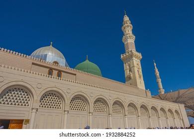 The Holy Prophet's Mosque in Madinah, Saudi Arabia. Shot taken on 21-11-2017