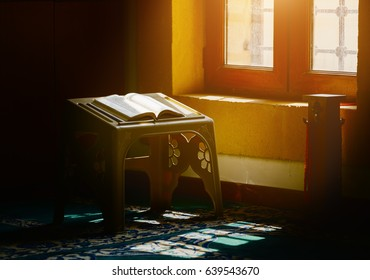 Holy quran in a sunlight in the mosque