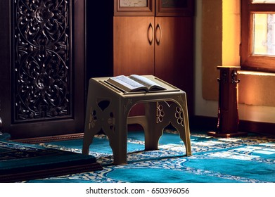 Holy quran under the sunlight in the mosque
