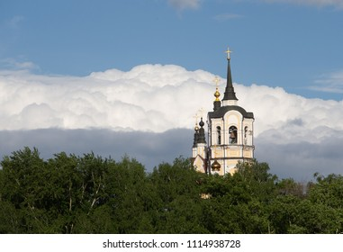 Holy Resurrection Orthodox Church. Old historical building. Tomsk, Russia