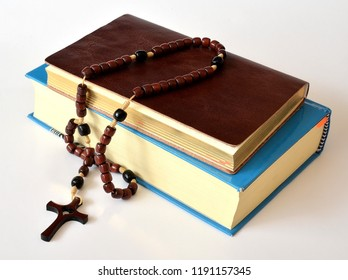 holy rosary and Holy Bible