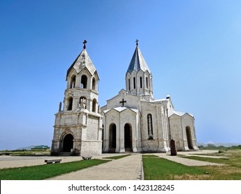 Holy Savior Cathedral or Ghazanchetsots Cathedral in Shusha (Shushi), Nagorno-Karabakh Rebublic. This is most ancient church in town, built in classic traditional Armenian style