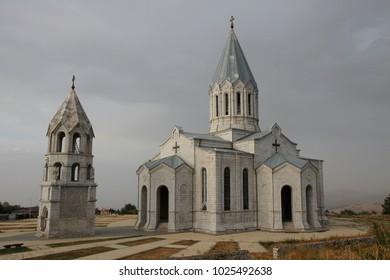 The Holy Savior Cathedral in in Stepanakert, Nagorno-Karabakh (Artsakh) republic