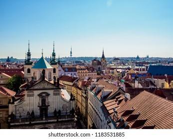Holy Saviour Church, elevated view, Old Town, Prague, Bohemia Region, Czech Republic