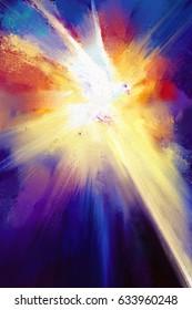 holy spirit digital painting/ holy spirit