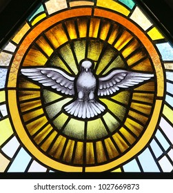 Holy Spirit in stained glass