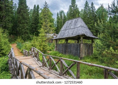 Holy spring of St. Irinarch the Recluse, Borisoglebsky District, Yaroslavl Region, Russia.