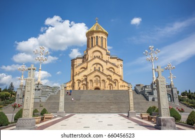The Holy Trinity Cathedral of Tbilisi commonly known as Sameba in Georgia