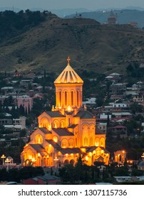 The Holy Trinity Cathedral of Tbilisi was completed in 2004. It dominates the area of Old Tbilisi know as Avlabari and is the third highest Eastern Orthodox cathedral in the world.