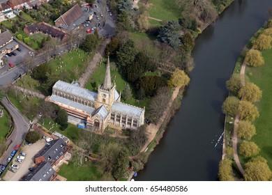 Holy Trinity Church Aerial Photography of Stratford upon Avon