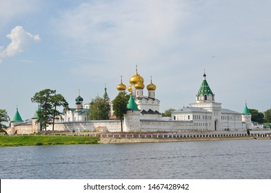 Holy Trinity Ipatiev male monastery on Kostroma River in Kostroma, Yaroslavl region. The Golden Ring of Russia