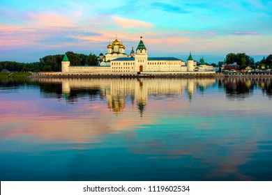 Holy Trinity Ipatiev Monastery at dawn. Ipatiev monastery-monastery in the Western part of Kostroma on the banks of the river of the same name near its confluence with the Volga. Kostroma, Russia