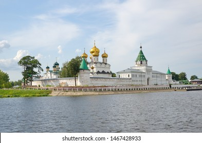Holy Trinity Ipatievsky male monastery on Kostroma River in old russian city Kostroma, Yaroslavl region. The Golden Ring of Russia