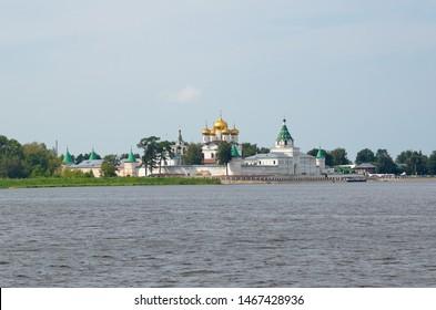 Holy Trinity Ipatievsky male monastery on Kostroma River in city Kostroma, Yaroslavl region. The Golden Ring of Russia