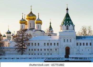 Holy Trinity Ipatievsky Monastery in the winter. Kostroma