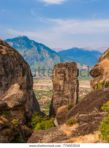 Holy Trinity Monastery Meteora Rocks Meaning Stock Photo (Edit Now
