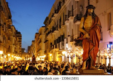 Holy Week Rites - The Ecce Homo - Procession of Mysteries in Taranto, Puglia, Italy 30/03/2018