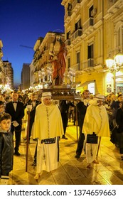 Holy Week Rites - The Ecce Homo - Procession of Mysteries in Taranto, Puglia, Italy - 19/04/2019