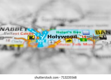 Holywood on map.