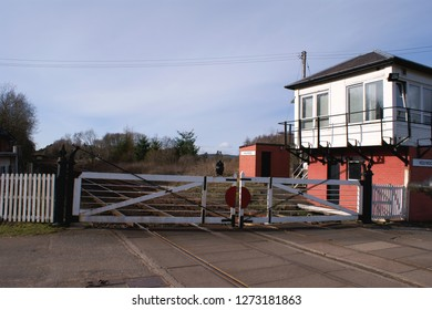 Holywood Signal Box and level crossing. near to Holywood, Dumfries And Galloway, Great Britain,