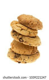 homade assorted cookies isolated on white