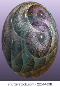 homage to faberge/abstract graphic easter illustration