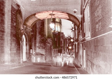 homage to Dalí, surrealistic photography, of street palace arch,toledo,Castilla La Mancha, Spain, dreams, landscape of dreams, photography of the subconscious,