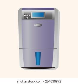 Home appliances theme refrigerator elements