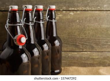 home brew easy cap beer bottles