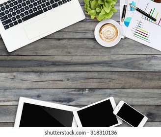 home business desk with communication device