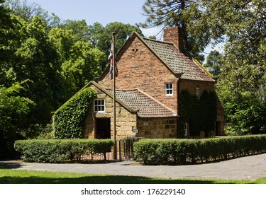 Home of Captain Cook moved from England to Fitzroy Gardens in Melbourne Australia by Russell Grimwade