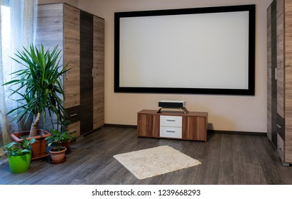 Home Cinema System with ultra short throw laser projector