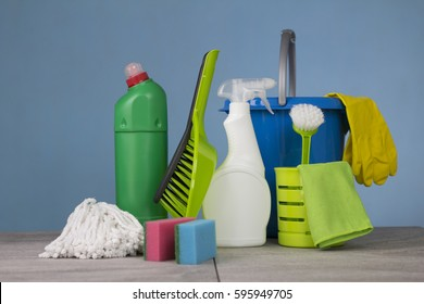 Home cleaning concept. Cleaning Equipment