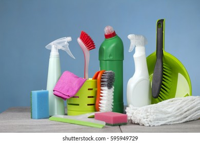 Home cleaning concept. Cleaning Products.