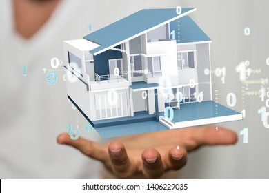 home concept 3d model in hand