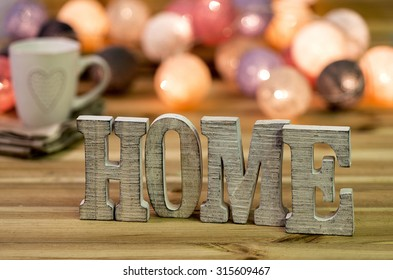 """For home decorating inside; letters of """"home"""""""