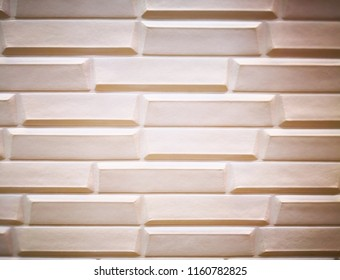 Home decoration concept and abstract background.Closeup view of brown cement panel. Cement  panel texture and background for wall design. Texture of block brown cement panel and copy space.