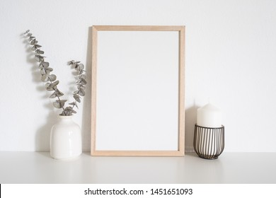 Home decoration with frame poster. Scandinavian style