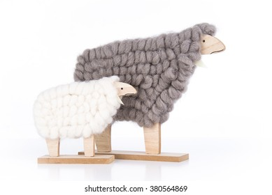 Home decoration sheep and lamb