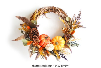 Home Decorative Floral Ornament Wreath for Halloween