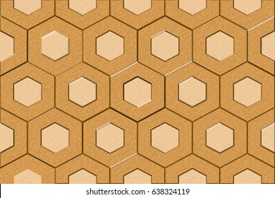 home decorative hexagon marble tiles design background,