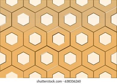 home decorative hexagon tiles design background,