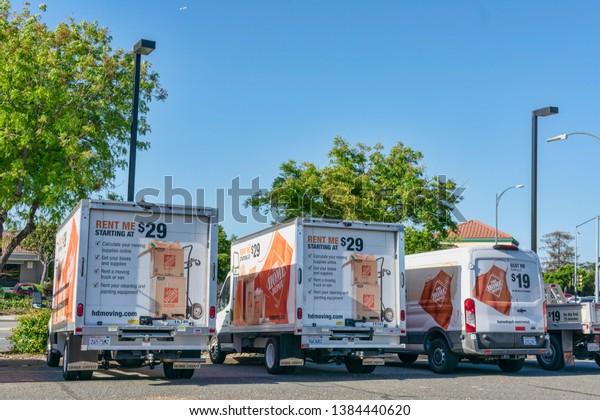 Home Depot Moving Box Trucks Vans Stock Photo Edit Now