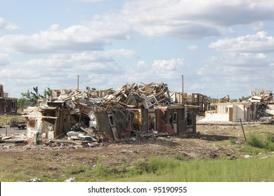 Home destroyed after tornado in Joplin, Missouri - Twister Damage
