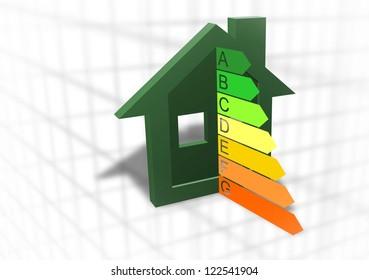 Home energy efficiency symbol