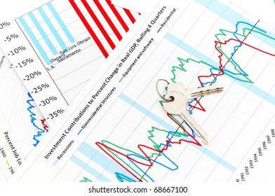 Home expenses, chrome key on chart diagram
